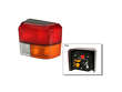 Picture of Volkswagen EuroVan Tail Light Lens - Passenger Side